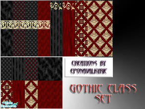 Sims 2 — EponaGothicClassSet  by EponaValkyrie — A touch of class and luxury for your Gothic & Vampire sims. A