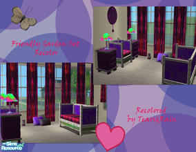 Sims 2 — Retro Themed Dream Garden Set by TearsRain — Set has a variety of Creators Om from Avalon and steffor as well as