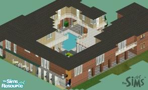 Sims 1 — loucipher7s wraparound luxury by loucipher7 — House for huge families with lots of cash! 18,000 square feet, 9