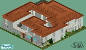 Sims 1 — louciphers first house by loucipher7 — Large house for large working family Garden, pool 6 bedrooms, 9 baths