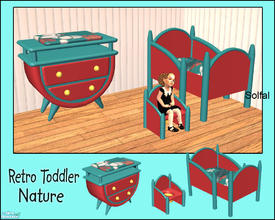 Sims 2 — Retro Toddler Nature by solfal — Recolour of the retro toddler set. Use it toghether with my other retro items
