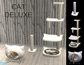 Sims 2 — Cat Deluxe - Pet mesh set by linegud — A little set for your precious cats. The bed are a smaller and remade
