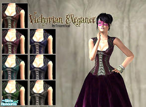 Sims 2 — Victorian Elegance Set by FrozenStarRo — A set of victorian gowns for ladies. Can be worn both as casual or