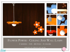 Sims 2 — Flower Power Lamp by DOT — Flower Power Lamp. 2 Meshes Plus Recolors. Match Maxis dresser. Sims 2 by DOT of The