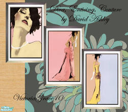Sims 2 — Diva Wall hangings by VictoriaGrace — Fun, girly prints for any room in your modern home, business or salon. You