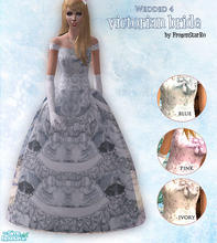 Sims 2 — Wedded 4 - Victorian Bride by FrozenStarRo — New set of wedding gowns, this time in a more Victorian style.