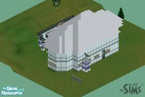 Sims 1 — Techno House by duton1 — Another house by me. but its basics are 1 bed 1 bath. t here are empty rooms but those