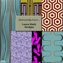 Sims 2 — Laura Simly Abstractedly Yours Wall Set by debs913 — Six distinctly different abstract wallpapers. Includes milk