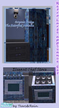 Sims 2 — Retrofied Appliance set by TearsRain — This set includes a stove and refrigerator mad of wild and noisy marble.