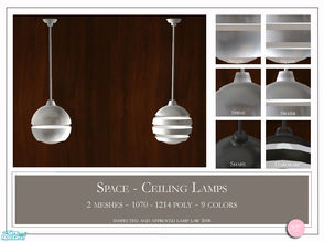 Sims 2 — Space Ceiling Lamp by DOT — Space Ceiling Lamp. 2 Meshes Plus Recolors. Sims 2 by DOT of The Sims Resource.