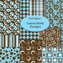 Sims 2 — Laura Simly Fab Fifties Aqua & Chocolate Wallpaper Set by debs913 — Sooo retro! Nine different fifties style