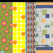 Sims 2 — Laura Simlyl 50s 60s Retro Wallpaper Set by debs913 — Four keeno wallpapers from the 1950s and 1960s. Two