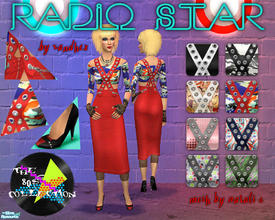Sims 2 — Radio Star  by Xandher — The inaugural set in my 80\'s collection, this set consists of a high-waisted pencil
