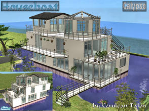 "Sims 2 — Calypso by Cerulean Talon — Not your usual ""houseboat\"", this elegant houseboat would make even the"