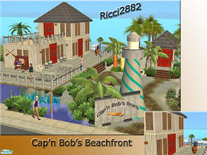 Sims 2 — Cap\'n Bob\'s Beach House by TheNumbersWoman — What is there to say about the ole scallywags restaurant and