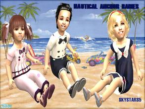 Sims 2 — Nautical Anchor Babies by skystars5 — Dress your toddlers in the latest nautical fashion. Aren\'t they cute! You