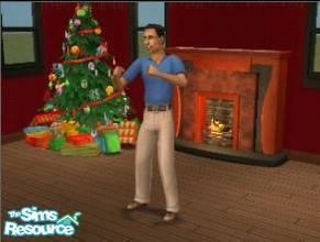 Sims 2 — Merry Christmas by Artistvrd — Put this wonderful 11 second long clip in your sim's TV! It works any time of the