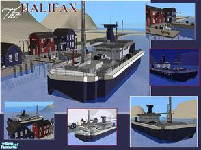 Sims 2 — The Halifax by laivine_erunyauve — The Halifax is an old fishing trawler that has been converted into a home for