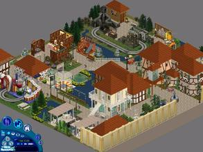 Sims 1 — Busch Gardens Europe Amusement Park by diamondnell — The whole family is sure to love this beautiful park. Brave