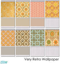 Sims 2 — Very Retro Wallpaper Set 001 by agaliha5 — A set of eight very 70s wallpaper